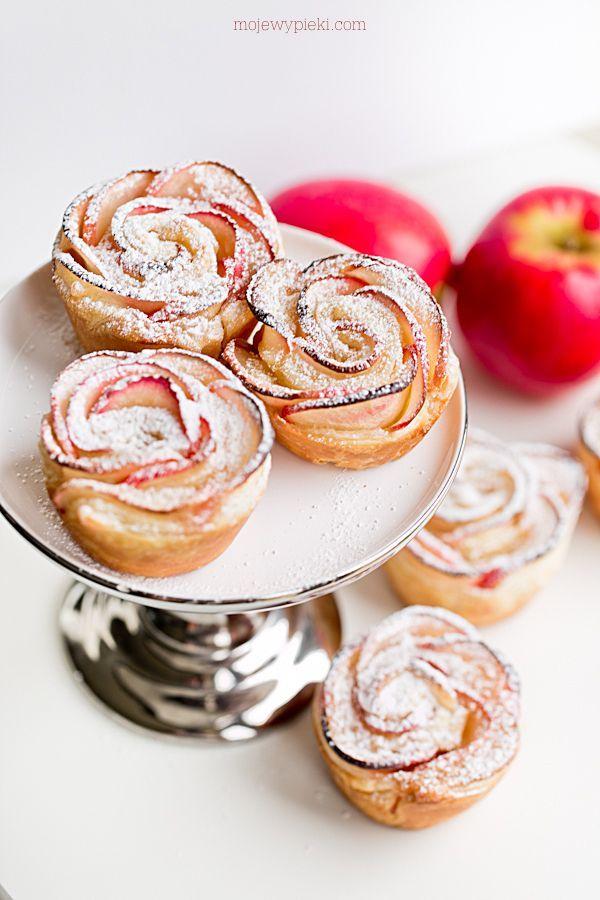 Róże jabłkowo - marcepanowe