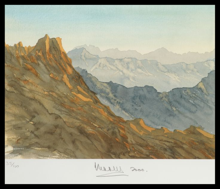 HRH The Prince of Wales Overlooking Wadi Akram, Kingdom Of Saudi Arabia Limited Edition Signed Lithograph 59 x 53 cm £5,950