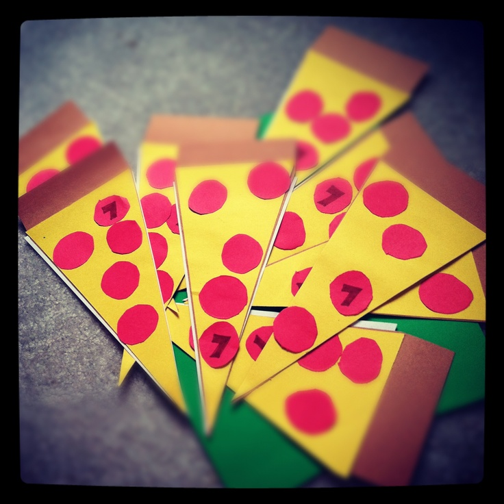 Pizza theme invitations for 7 th birthday! Party DIY