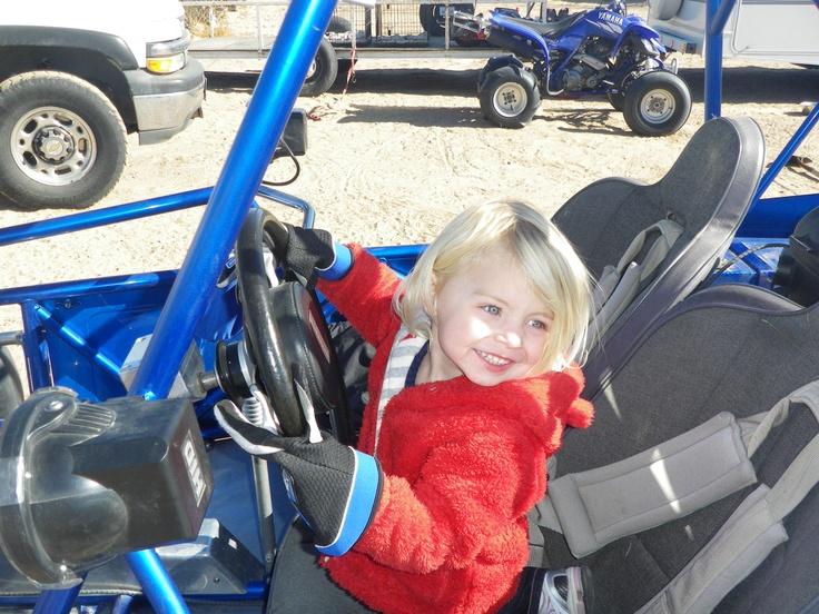 lexie in the king sand car