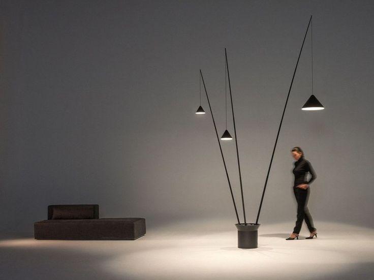 LED carbon fibre floor lamp