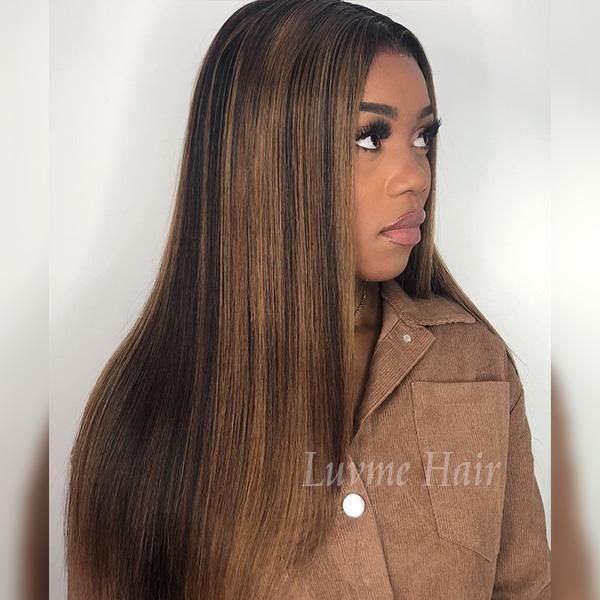Caramel Blend Color Highlights 360 Wig Wigs 360 Wig Colored