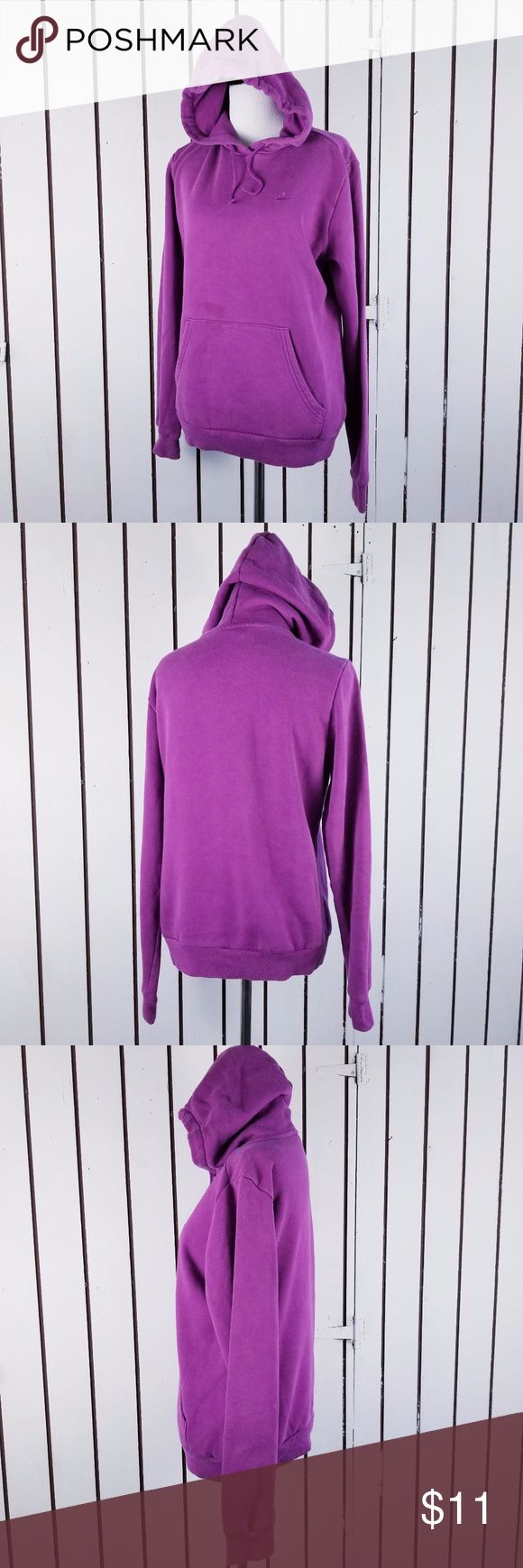 """Nike Women's sz M purple hoodie Has 1 grease stain at the front pocket Length:23"""" Armpit to armpit:21"""" Sleeves:25"""" All of my items are from smoke and pet free household Please feel free leave me any questions about my items Nike Tops Sweatshirts & Hoodies"""