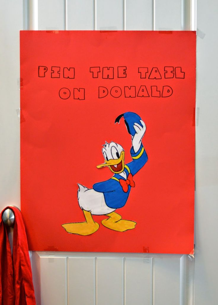 Donald Duck Birthday Party Games: Pin the Tale on Donald! DIY