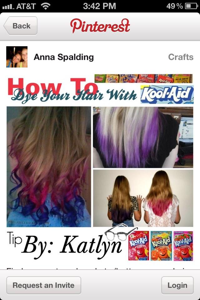 Dip Dye Kool Aid Recipe Dark Brown Hairs Of Kool Aid Hair Color