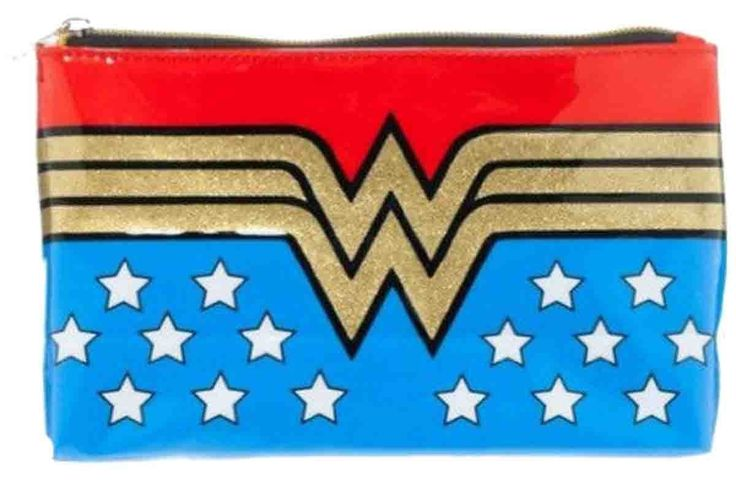 "Amazon.com: Wonder Woman Vinyl 8""x5"" Makeup Bag: Toys & Games"