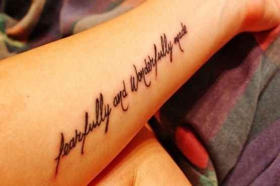 Psalm 139:14 | 30 Inspirational Bible Verse Tattoos