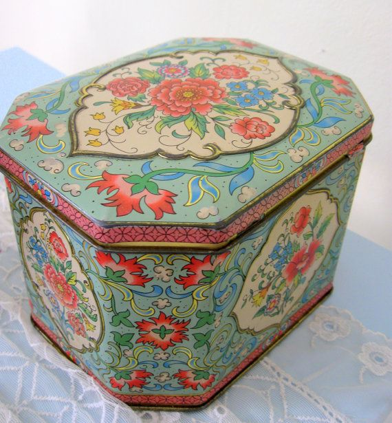 Daher Tin Litho Metal Candy Box Shabby by Somethingcharming, $24.00