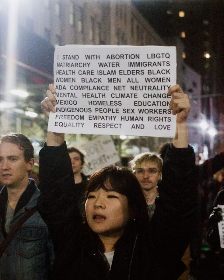"""""""I stand with Abortion, LBGTQ, Matriarchy, Water, Immigrants ... """" -  😊 ... http://Matriarchy ... 😊 @ https://www.facebook.com/papermag/photos/pb.16081247185.-2207520000.1480023361./10153844376837186/"""
