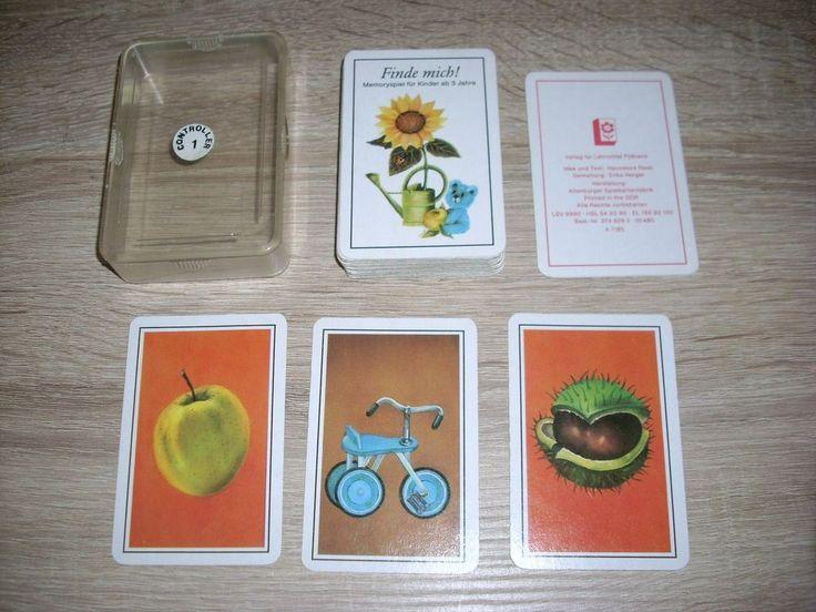 Finde mich! Memory Spiel ab 3 Jahre sehr gute Karten Altenburg DDR