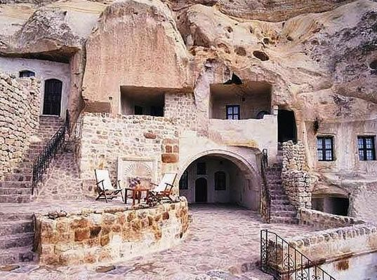 Home carved out of volcanic rock... ancient thermal effectiveness.... and really cool...