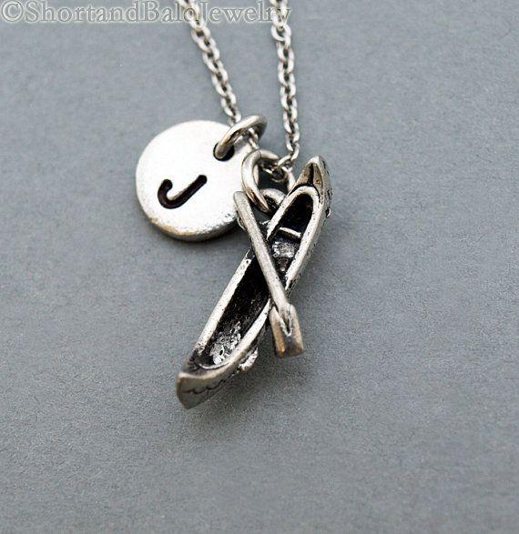 Canoe necklace Kayak boat necklace paddle necklace