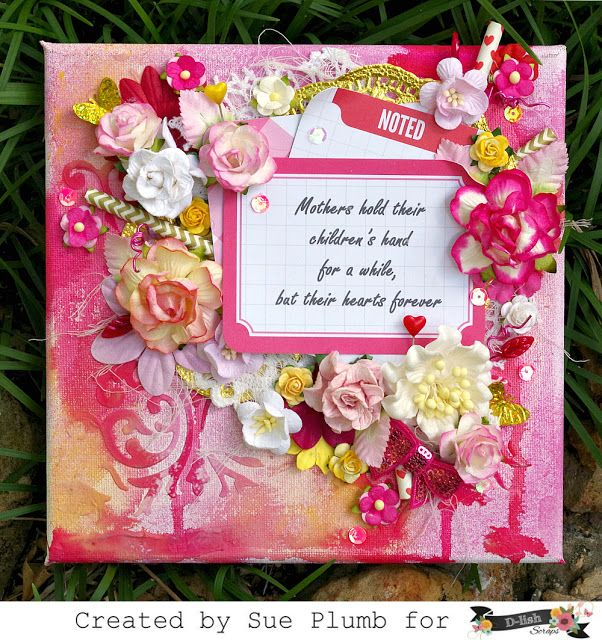 Look into my life Mothers Day canvas created for D-lish Scraps