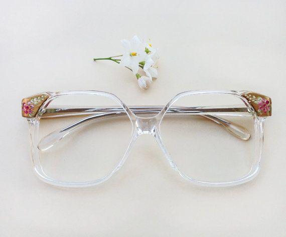 60s dead stock eyeglasses / Vintage squared hand by Skomoroki