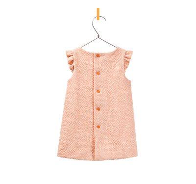 back dress with ruffle sleeves - Dresses - Baby girl - Kids - ZARA United States