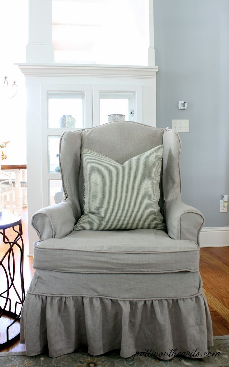 29 best slipcovers images on pinterest chairs chair covers and home wonderful wingback chair slipcover for more beautiful wingback chair ideas charming single sofa with gray