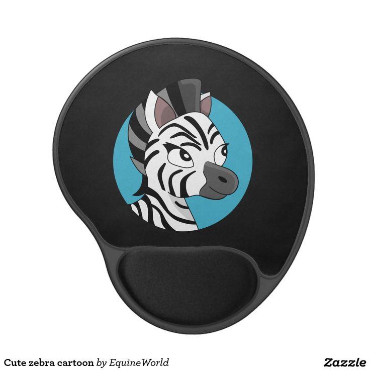 Cute zebra cartoon gel mouse pad
