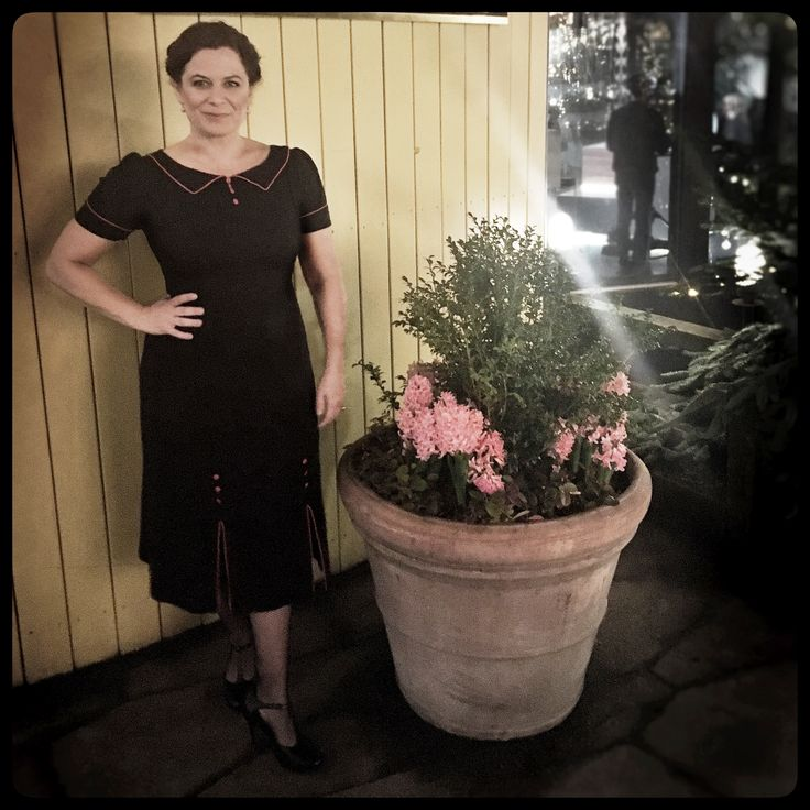 """Wonderful Star actress Camilla Bendix looked amazing in her """"Kecia"""" dress. for a Christmas interview in Go´aften Danmark this week @gotv2dk wish you a happy weekend."""