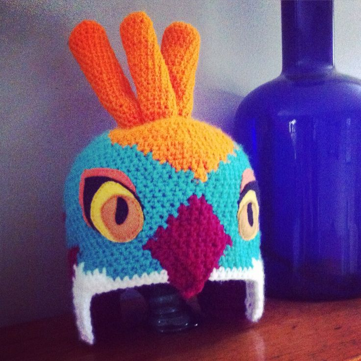 Crochet Hawlucha from Pokemon hat by DeeAnimals (deanna croteau) www.facebook.com/deeanimals