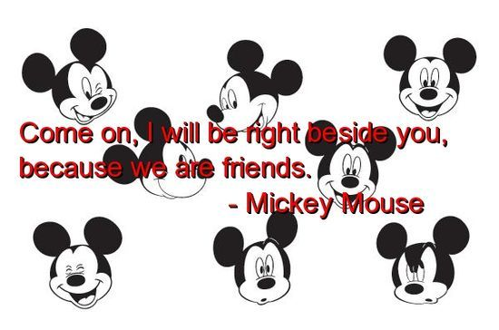 Quotes From Mickey Mouse: 17 Best Cute Quotes About Friends On Pinterest