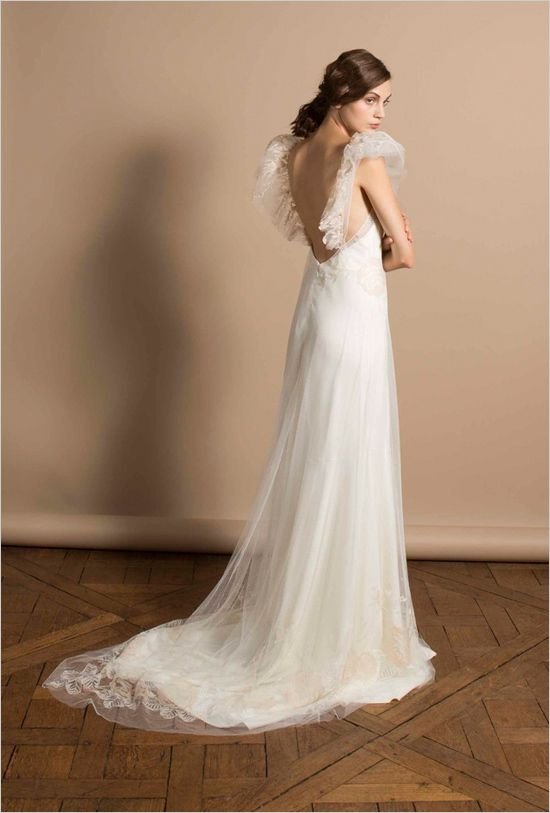 Romantic backless wedding gown by Delphine Manivet. ---> http://www.weddingchicks.com/2014/06/05/delphine-manivet-wedding-dresses/