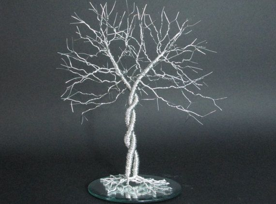 Unique Wedding Cake Topper Entwined   Wire by FeathersOfTheForest