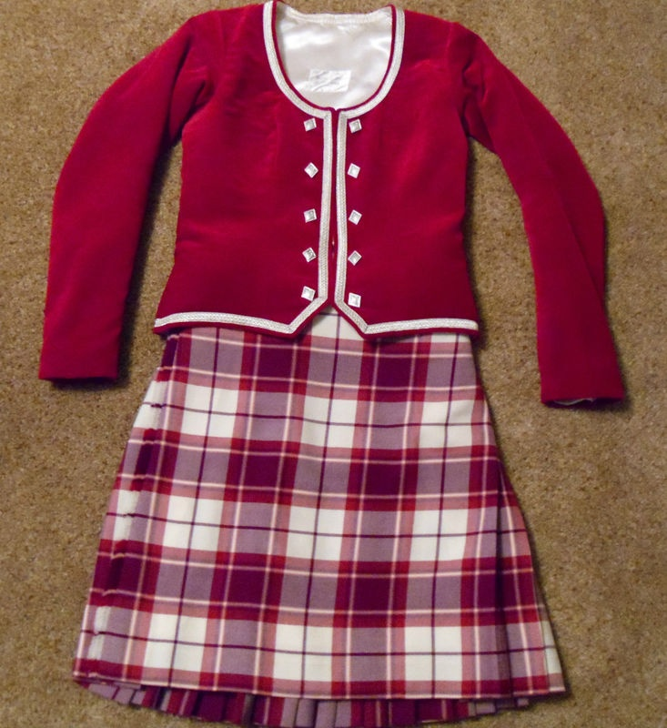 Highland Dancing Outfit | Pinterest | Red jackets Kilts ...
