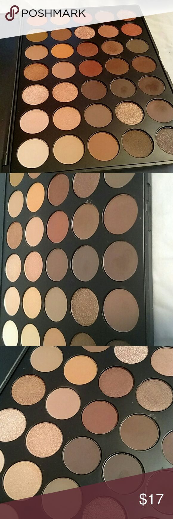 Morphe 350 palette Morphes infamous 350.  I swatched a few colors but it's in really great shape and looks almost brand new minus a few shades. Will take great care in shipping.  Morphe website shipping is crazy expensive so my price is pretty firm as I think this is a good deal!  I will absolutely take the time to make sure this item is shipped as securely as I got it. Thank you! Xo morphe Makeup Eyeshadow