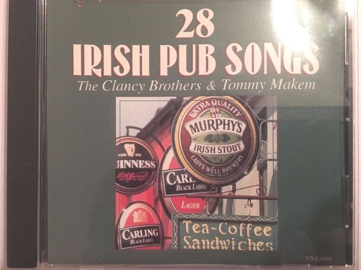28 Irish Pub Songs by The Clancy Brothers & Tommy Makem (CD, Feb-1996, Madacy) #Celtic