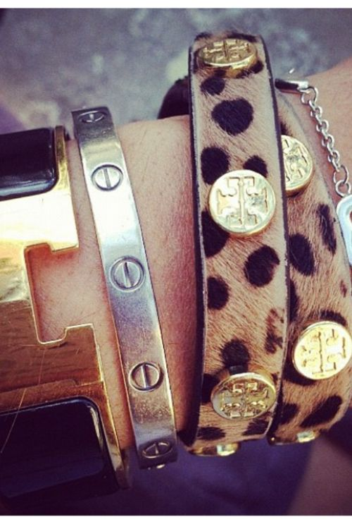 tory burchHermes Bracelet, Wraps Bracelets, Tory Burch, Leopards Prints, Animal Prints, Accessories, Toryburch, Arm Candies, Arm Parties
