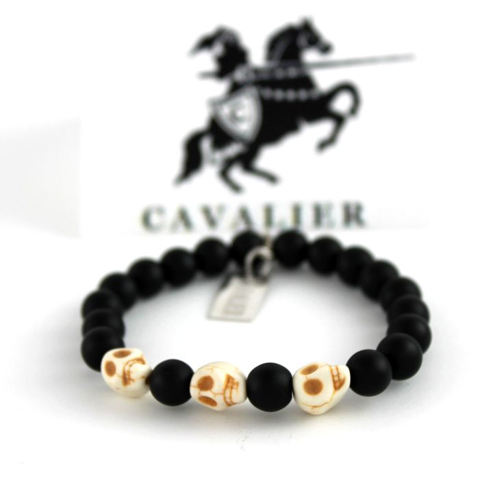 Cavalier Bone Skull Matte Black Beads www.mycavalier.co