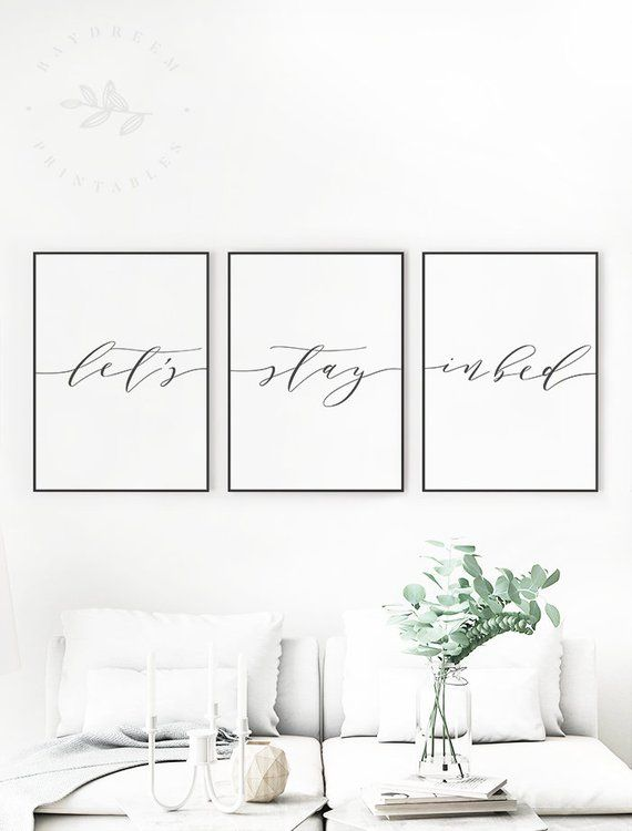 Lets Stay In Bed Printable Bedroom Quote Print Lets Stay In Bed