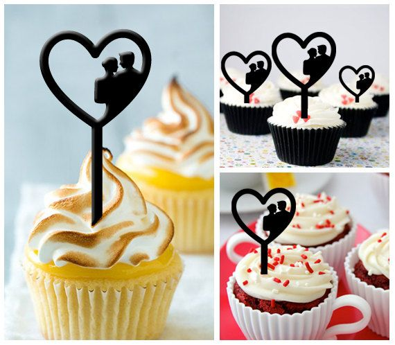 Silhouette wedding cupcake topper cupcakes pinterest wedding silhouette wedding cupcake topper cupcakes pinterest wedding cupcake toppers wedding cupcakes and cupcake toppers junglespirit Image collections