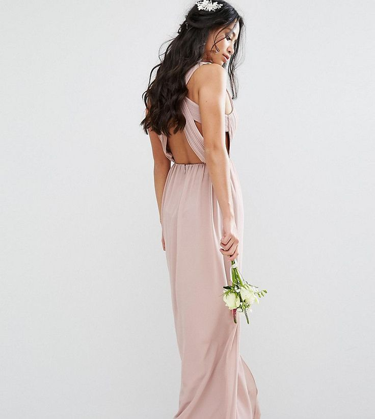 Get this TFNC Petite's cocktail dress now! Click for more details. Worldwide shipping. TFNC Petite Wedding Pleated Maxi Dress With Open Back Detail - Pink: Petite dress by TFNC, Smooth woven fabric, Plunge neck, Zip-back fastening, Regular fit - true to size, Hand wash, 100% Polyester, Our model wears a UK 8/EU 36/US 4 and is 158cm/5'2 tall. London label TFNC is renowned for its standout occasionwear. Step it up in sparkly fabrics, embellished styles and party-prepped bodycon dresses that…