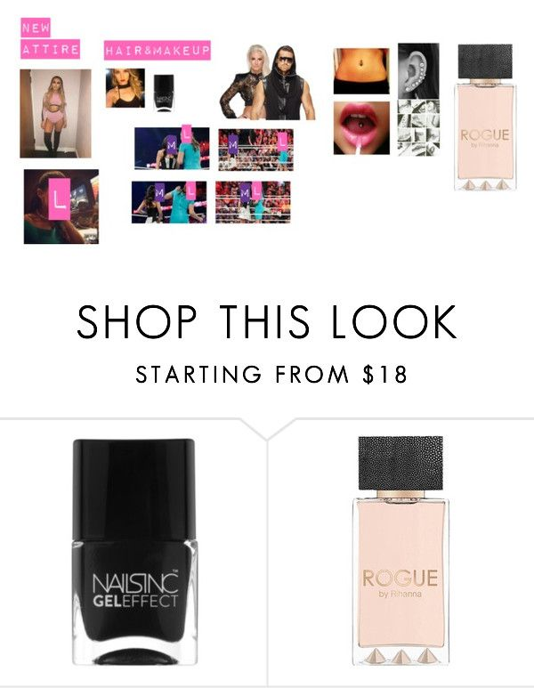 """""""Maryse Slaps Leah"""" by thefuturemrsambrose ❤ liked on Polyvore featuring Nails Inc. and WWE"""