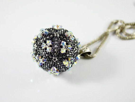 bullet swarovski crystals large pendant small by SzkatulkaAmi