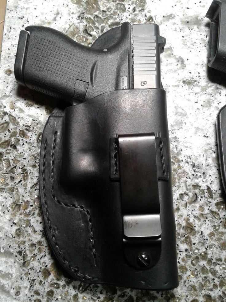 Custom leather holster for Glock 42.