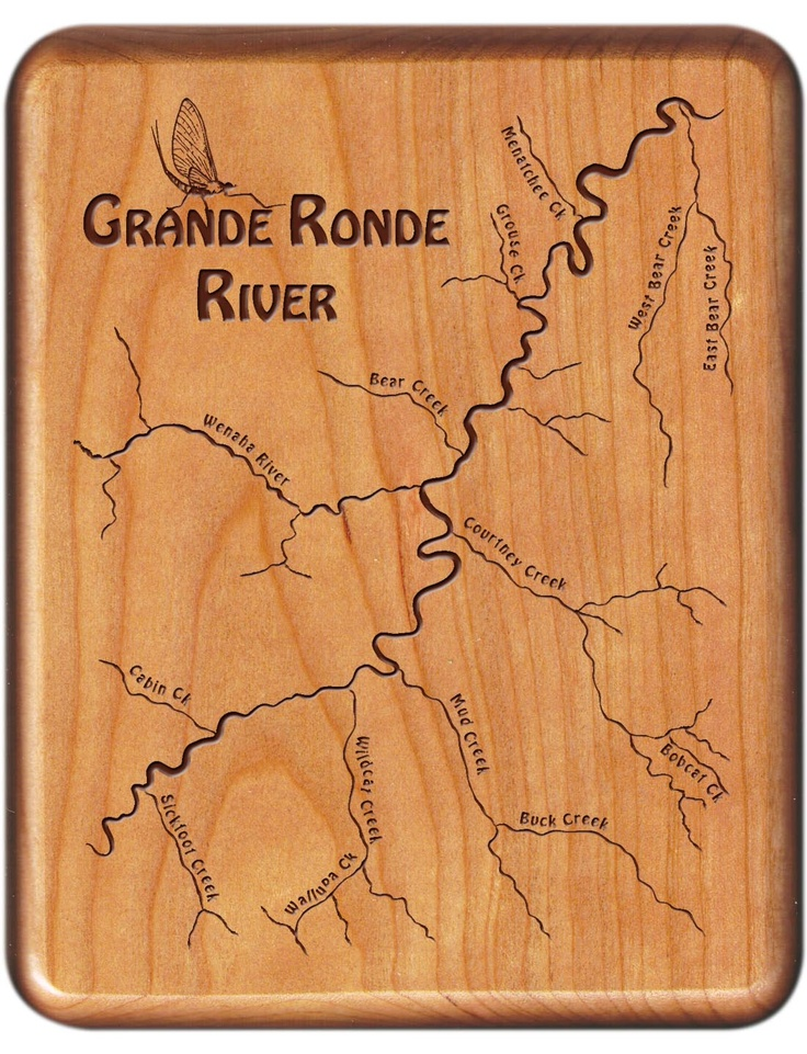 Grande Ronde River Map Fly Box