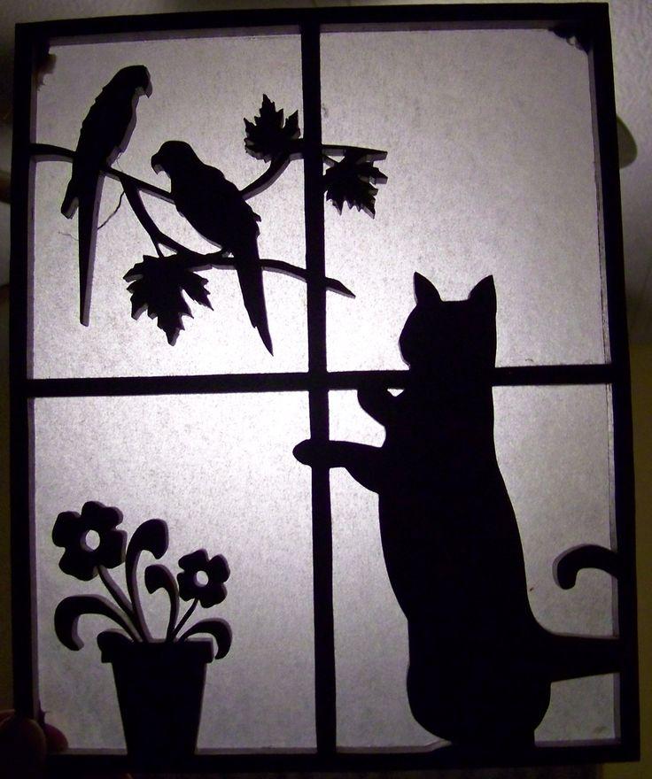 Cat window cut on scroll saw