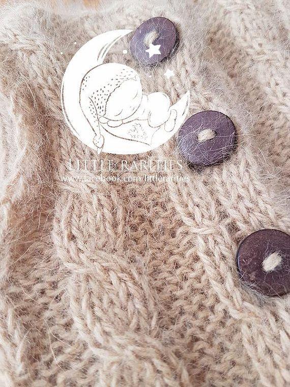 angora romper knitted romper newborn romper