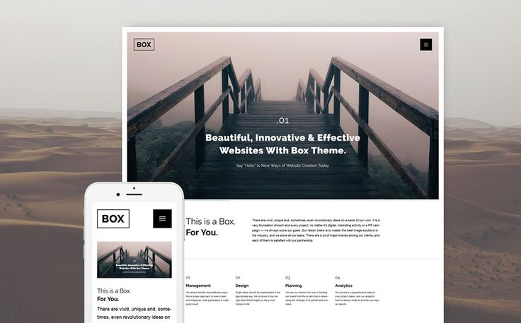 Web Design Parallax WordPress Template Big Screenshot