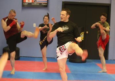 Muay Thai work...