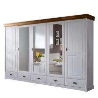 Schlafzimmerschrank Scots mit Glastüren im Landhausstil