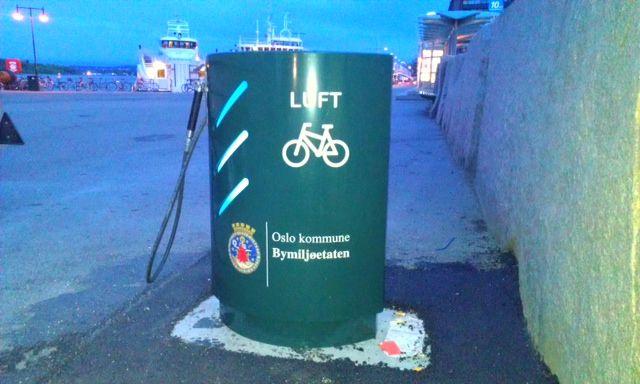 Sykkelpumpe i sentrum dersom du trenger luft i dekkene til sykkelen din