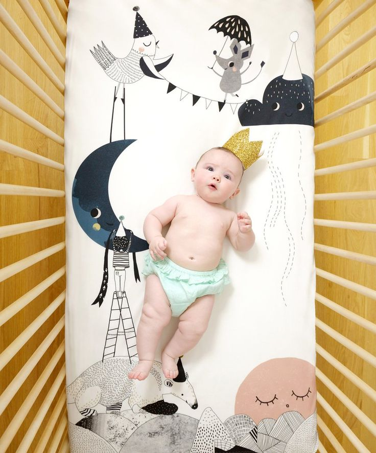 The Moon's Birthday Crib Sheet  - The Project Nursery Shop - 5