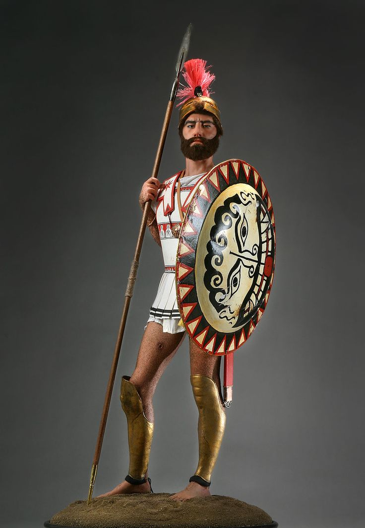 Greek Hoplite Warrior - soldiers of the Greek city-states. As the Greek states did not maintain standing armies, they depended on the general population to provide the defense forces. These Hoplite armies began appearing around late 7th century BCE. By the end of the 'Classical Period' the Macedonian King had perfected the most effective fighting forces in the Aegean. Hoplite training was organized and formal, but the individual man had to equip himself, the true citizen soldier.