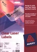 Envelope labels, printable for inkjet or laser printers. White or clear address labels.