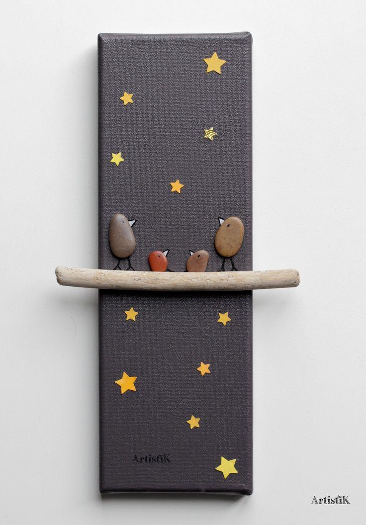 les 85 meilleures images du tableau tableaux galets bois flott sur pinterest art de galets. Black Bedroom Furniture Sets. Home Design Ideas