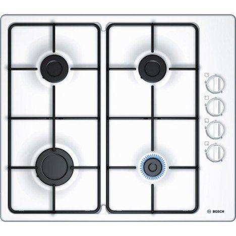 Plaque de cuisson gaz 4 foyers, blanc, BOSCH PBP6B2B80 139e