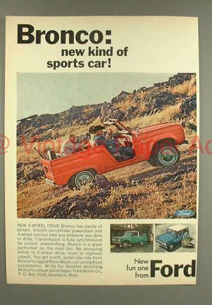 Ford Bronco Truck – New Kind of Sports Car (1966)